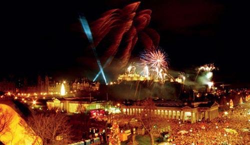 Passagem de ano em Edimburgo, na Escócia
