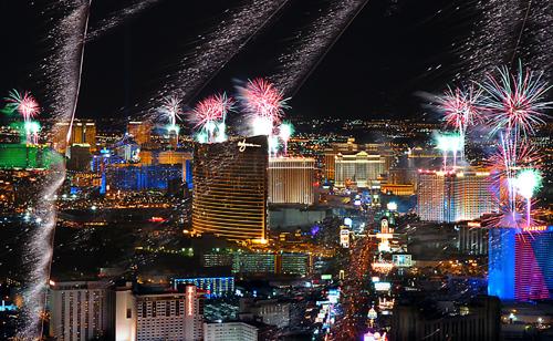 Passagem de ano em Las Vegas EUA