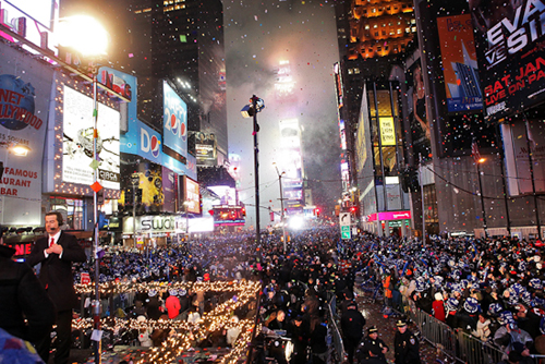 a Passagem de ano em New York City, nos EUA