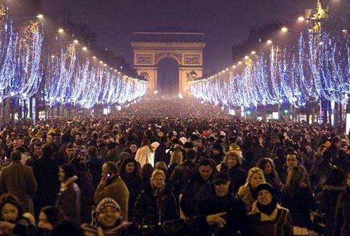 a Passagem de ano em Paris França
