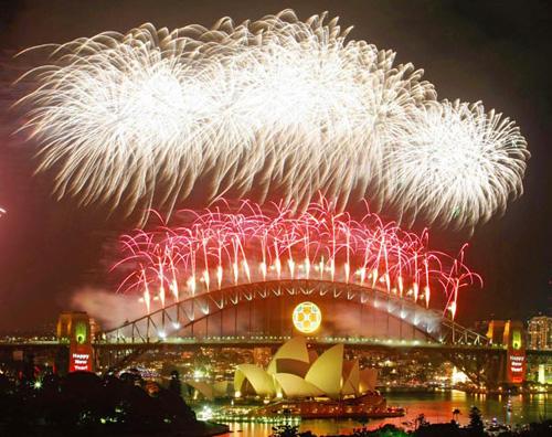 a Passagem de ano em Sidney