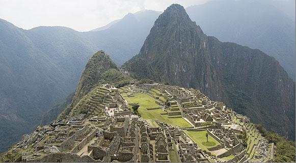 A cidade Inca de Machu Picchu, Peru
